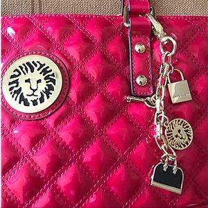 Anne Klein pink patent handbag